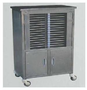 mmht020 stainless steel case record 30 folder trolley