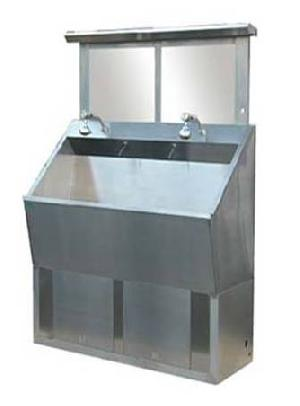 stainless steel wash basin 2 auto inductive taps