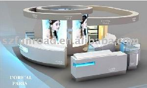 cosmetic display stand counter