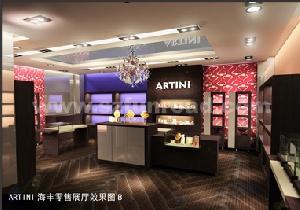 dark led light glass showcase cabinet counter jewelry showroom
