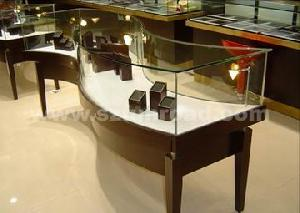 jewelry window display cases cabinet fiber optic lighting system