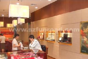 mdf glass display case dispaly cabinet showcase jewellery watch