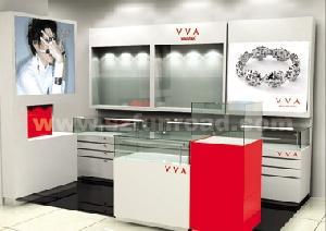 mdf glass jewelry display case jewelr dispaly cabinet showcase