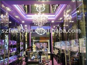 wooden glass display case dispaly cabinet showcase jewelry watch