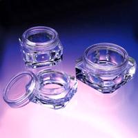 plastic cosmetic pots