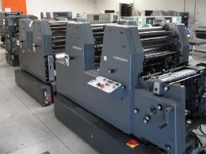 1995 heidelberg print master gto 52 4 four colour offset press machines