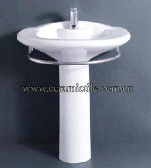 pedestal wash basin corner sink a4060