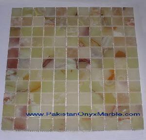 onyx mosaic tiles drak green light