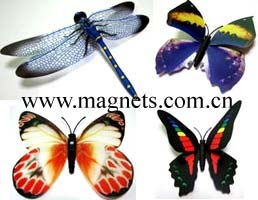 butterfly dragonfly fridge magnet stationery
