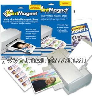 Inkjet printable magnetic sheets