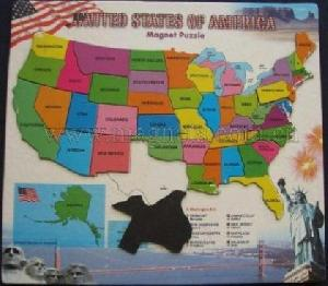 Magnetic Map Puzzle Magnetic Usa Map Puzzle Permanentmagnets - Puzzle us map