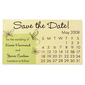 save date calendar magnet