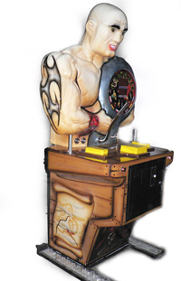 man amusement machines arm wrestler machine