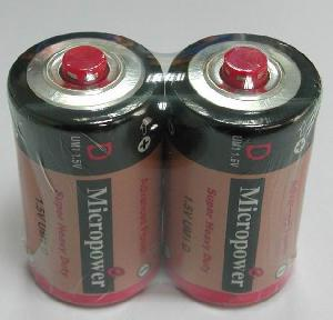 zinc carbon battery d r20 cap