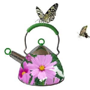 stainless steel whisting tea kettles flowers pattern