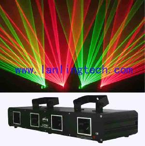 l2500 250mw rg four lens laser led lights dmx controllers dj laer stage light