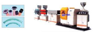pvc steel wire reinforced soft pipe extrusion line
