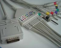 burdick ek 10 ekg cable 12 leads ecg