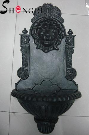 cast iron fountain lion head