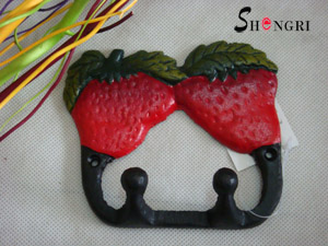 cast iron strawberry hook hanger sryh 214