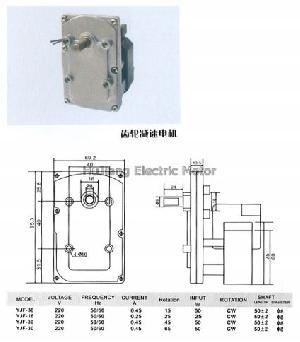 ac phase shaded pole gear motor sp