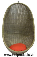 poly rattan bubble chair 05382