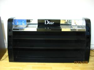 cosmetic display showcases dior
