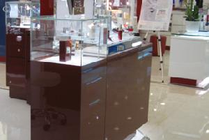 cosmetic up display cabinets colour
