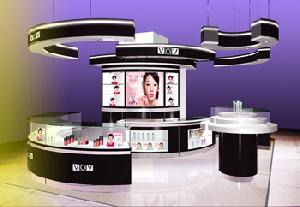cosmetic display showcases shop store
