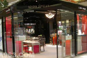 jewelry display glass cabinets