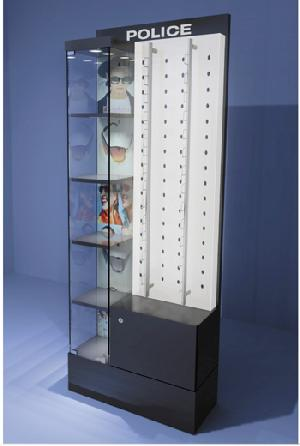 sunglass display cabinets showcases store