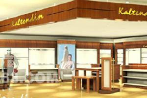 wood metal display cabinets showcase show store