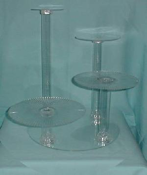 tiered cake display stand