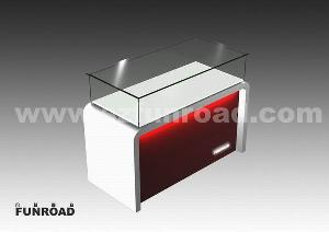 jewelry counter showcase display cabinet glass led light professiona