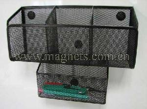 magnetic storage basket