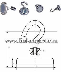 ndfeb magnetic hook magnet