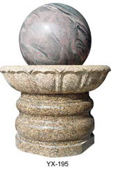 rolling ball fountain sphere water