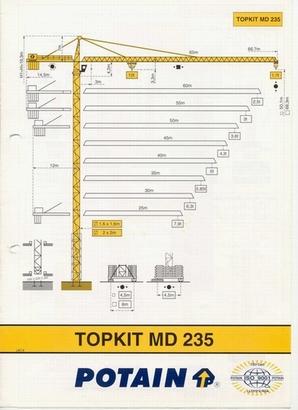 potain md235 tower crane