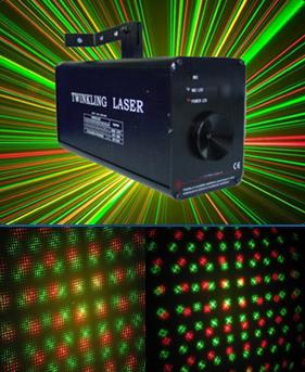 twinking laser show lighting stage