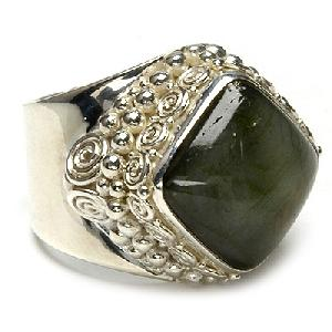 gems stone silver ring