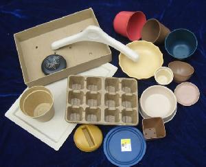 biodegradable flower pots pet bowls dishes pallet