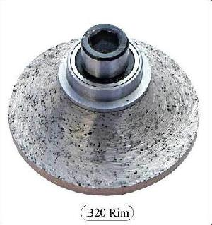B20 Diamond Rim Router Bits For Granite, Marble, Etc.