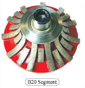 B20 Segmented Diamond Router Bits For Marble, Granite, Etc.