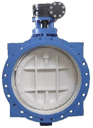 din cast iron eccentric flanged butterfly valve