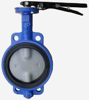 din cast iron wafer butterfly valve