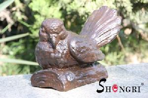bird figurine cast iron