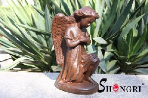 cast iron angel statue