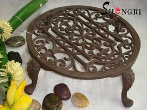 cast iron flower pot holder legs