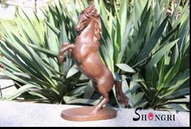 cast iron tall rearing horse statue