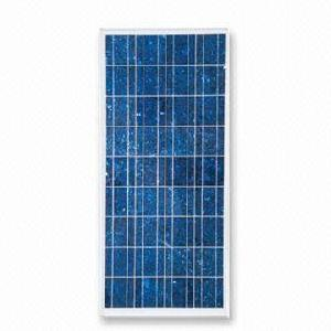 Poly-crystalline Silicone Solar Panel With Peak Power Of 130w, Cell Size Of 156 X 156mm